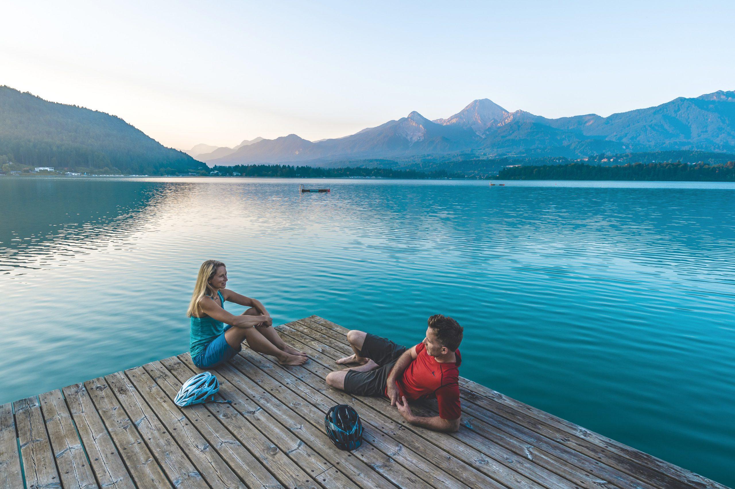 den türkisen Faakersee in Kärnten mit dem Rad erkunden -ein unvergessliches Erlebnis