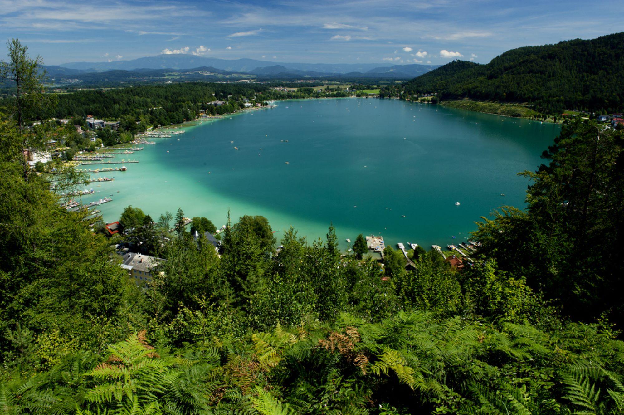 der Klopeiner See bietet Badspaß für Radfahrer