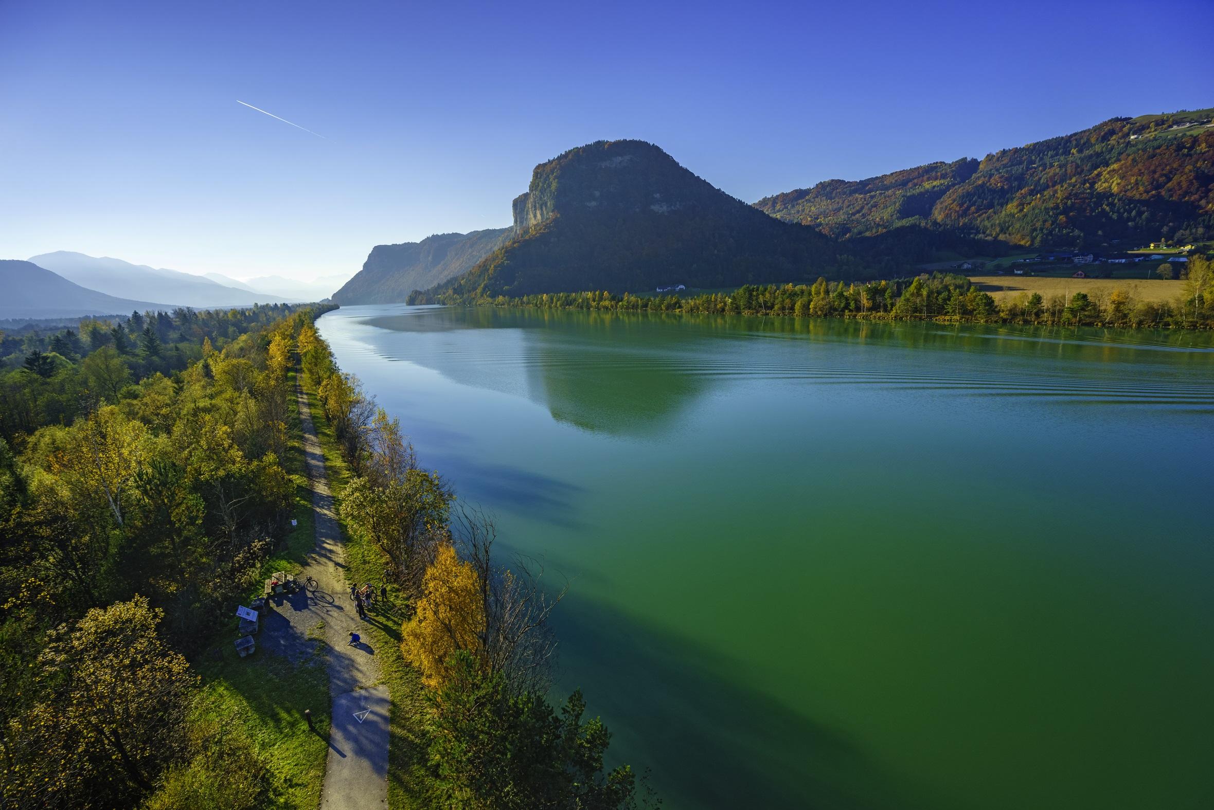 Der 5 Sterne Drauradweg zählt zu den schönsten Radrouten Österreichs