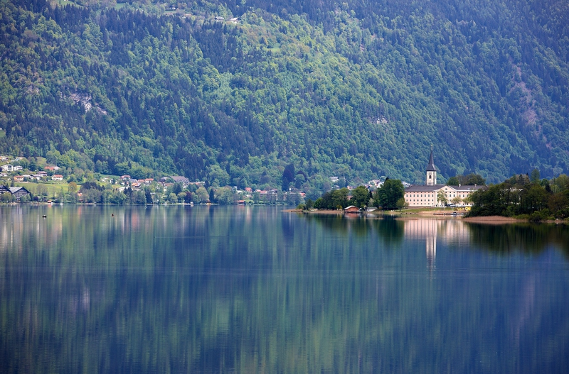 the monastery at Ossiacher See is worth a visit - great experiences on a cycling holiday