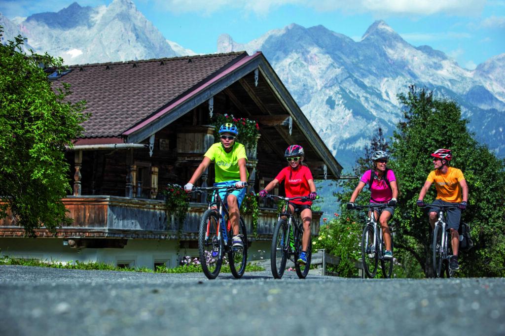 Radurlaub mit der Familie im Salzburger Land