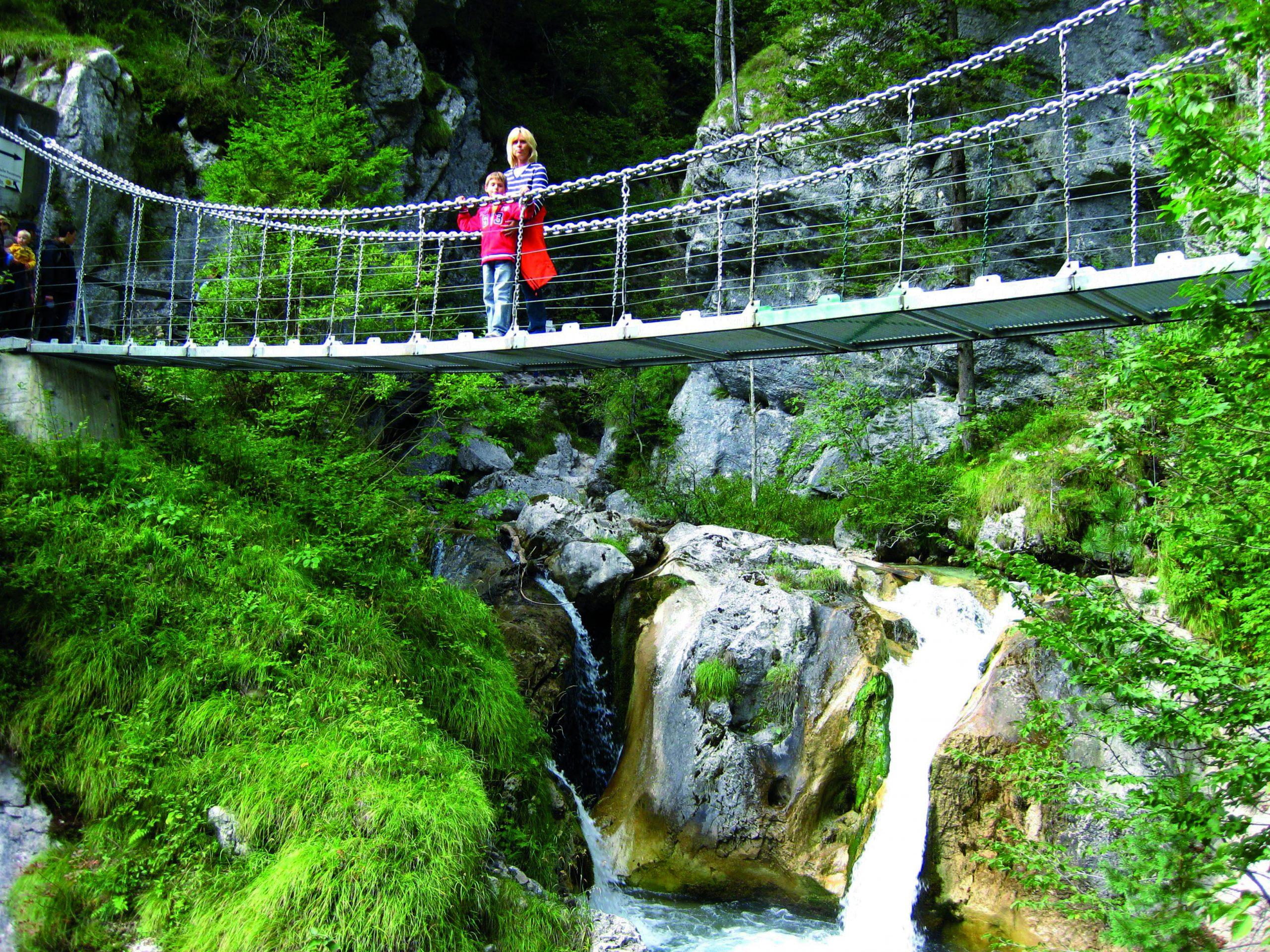 im Radurlaub gibt es tolle Ausflugmöglichkeiten - die Tscheppaschlucht in Ferlach