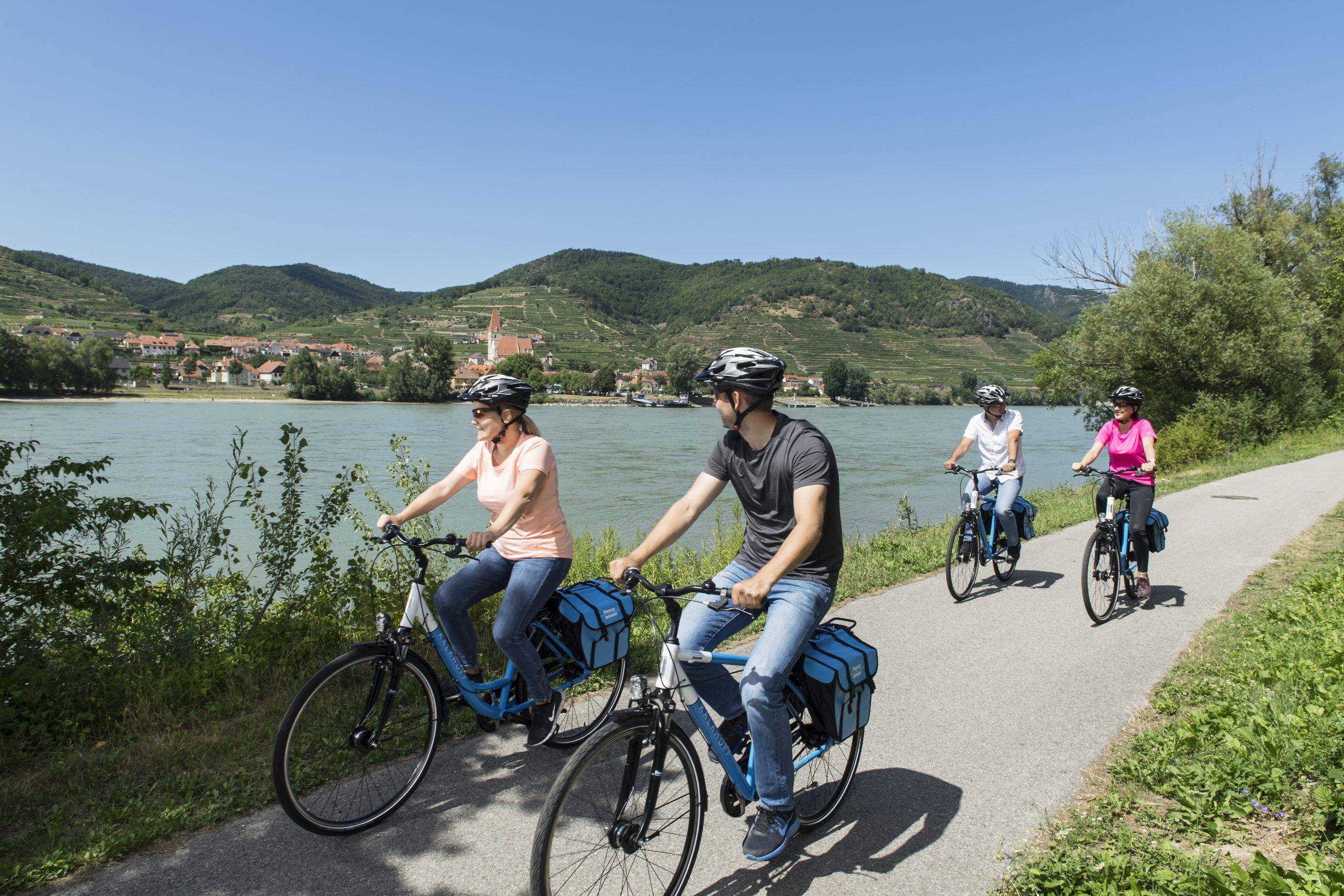 Fietsen langs de Donau in Passau