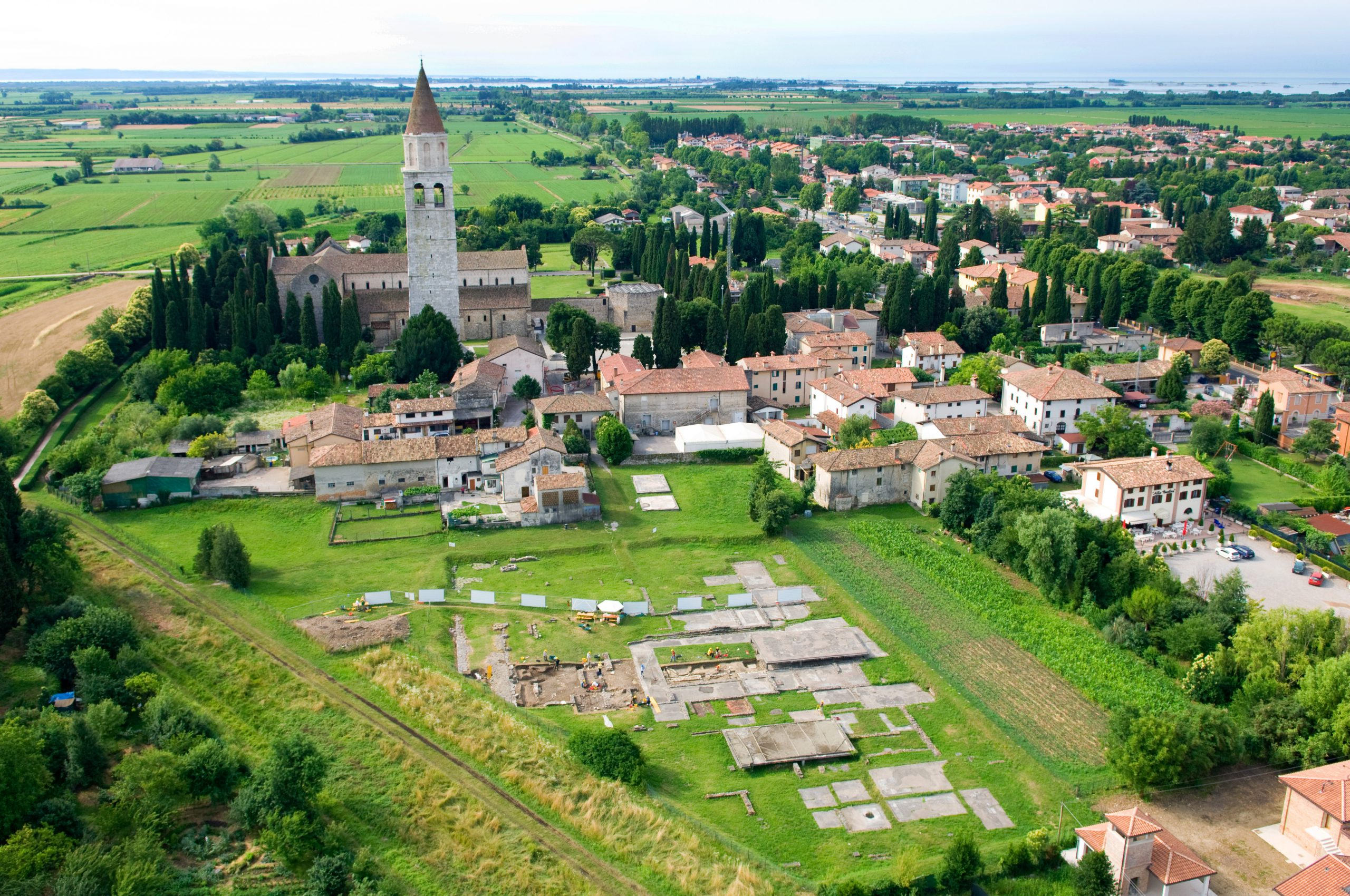 Roman excavations in Aquileia - an exciting excursion on a cycling holiday