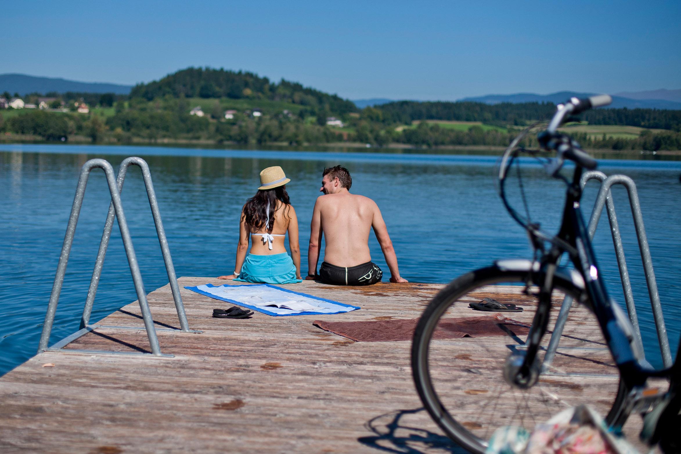 Badespaß am wärmsten See Europas - den Klopeiner See