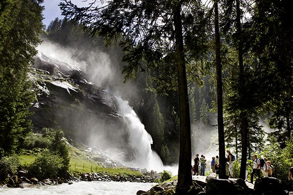die Wasserfalle Krimml sind einen Besuch wert