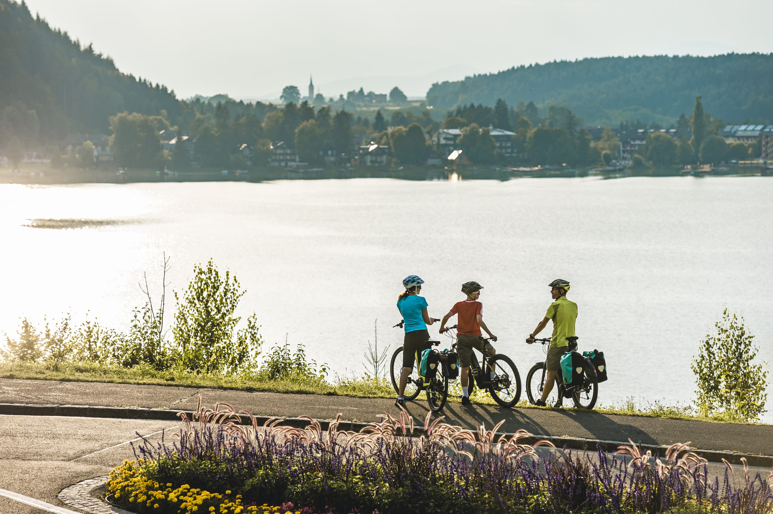 gemütlicher Urlaub in St. Kanzian - den Klopeiner See mit dem Rad umrunden