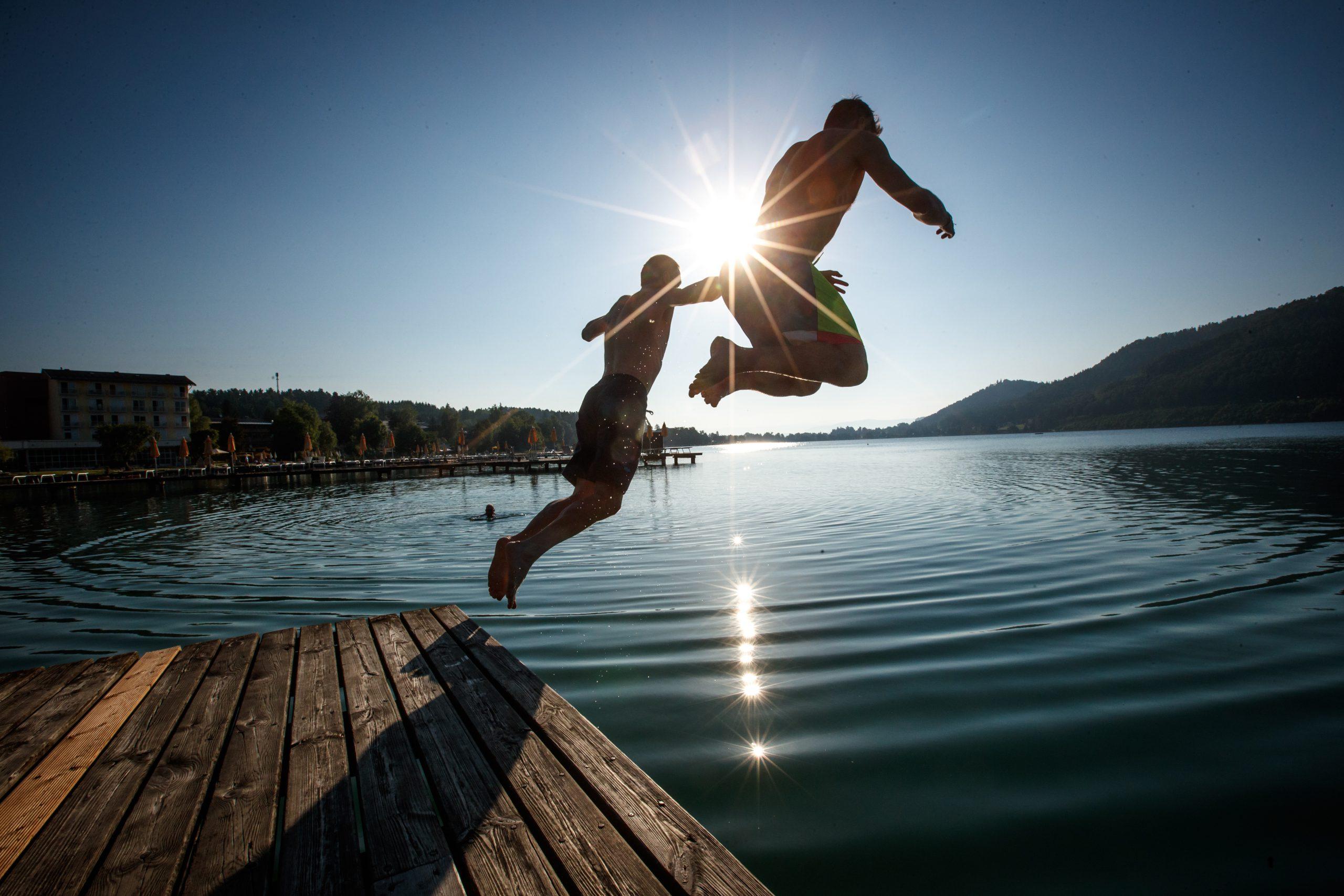 der Klopeiner See ist einer der wärmsten Badeseen Europas