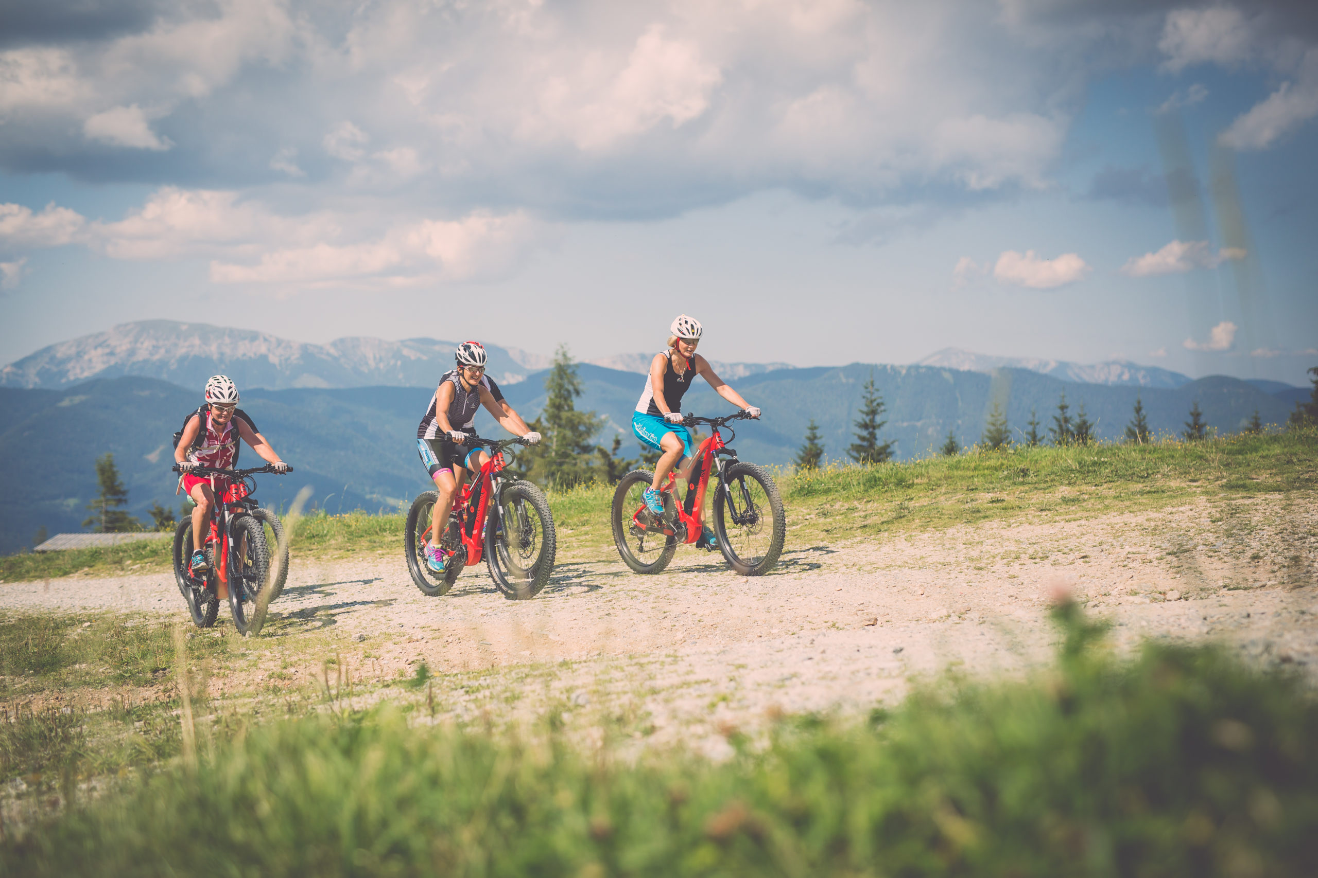 a great cycling holiday - cycling with the e-bike to the Ganzalm